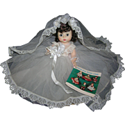 "Vintage Alexander 8"" Wendy-kin All Original Bride Doll"