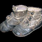 Antique High Button Child/Doll Shoes