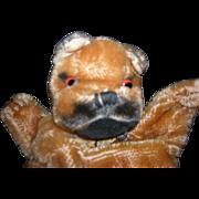 Vintage Bulldog Hand Puppet