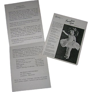 Vintage Original Sandra Sue Booklet & Box Insert!