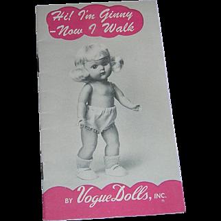Vintage Original Vogue Ginny Booklet