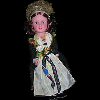 Vintage All Original German Gura Doll with Original Tag