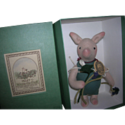 "R John Wright ""Piglet with Violets"" Doll!"