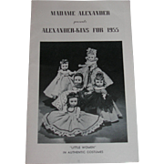 Vintage Original Madame Alexander Alexander-kins for 1955 Booklet