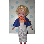 "Nancy Ann Storybook Doll Bisque ""Little Boy Blue"" in original box - Red Tag Sale Item"