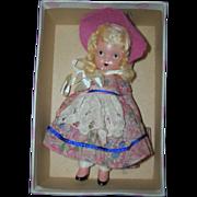 "Nancy Ann Storybook Doll Bisque ""Merry Little Maid"" in original box"