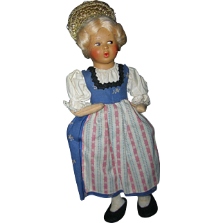 Vintage Ethic Austrian Baitz Doll All Original