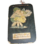Vintage Drayton Style Plaque of Children