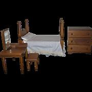 Vintage 1965 Hall's Wooden Bedroom Furniture Set