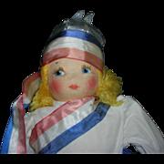 Vintage Cloth Georgene Miss Liberty Doll