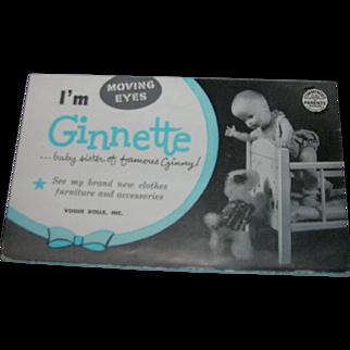 Vintage Original Vogue Ginnette Booklet