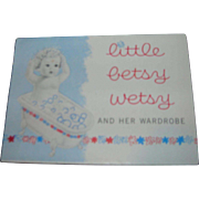 Vintage Original Ideal Little Betsy Wetsy Booklet