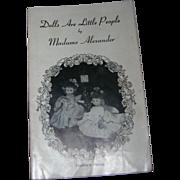"""Vintage Original Madame Alexander """"Dolls Are Little People"""" Booklet - Southern Belles"""