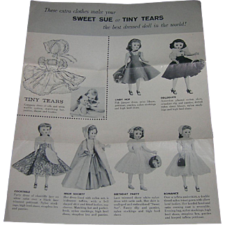 Vintage Original American Character Sweet Sue & Tiny Tears Paper