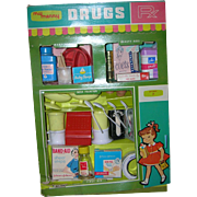 1959 Vintage My Merry Toy Drug Store Set