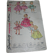 "Simplicity's Vintage Doll Pattern #1372 for 8"" Dolls"