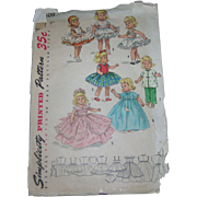 "Simplicity's Vintage Doll Pattern #1809 for 8"" Dolls Complete"