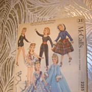 "McCalls Vintage High Heel Fashion Doll Pattern for 10 1/2"" Dolls"
