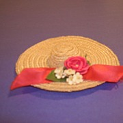 "Vintage 1950's HTF 10 1/2"" Fashion Doll Hat"
