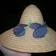 Vintage Natural Straw Hat - Red Tag Sale Item