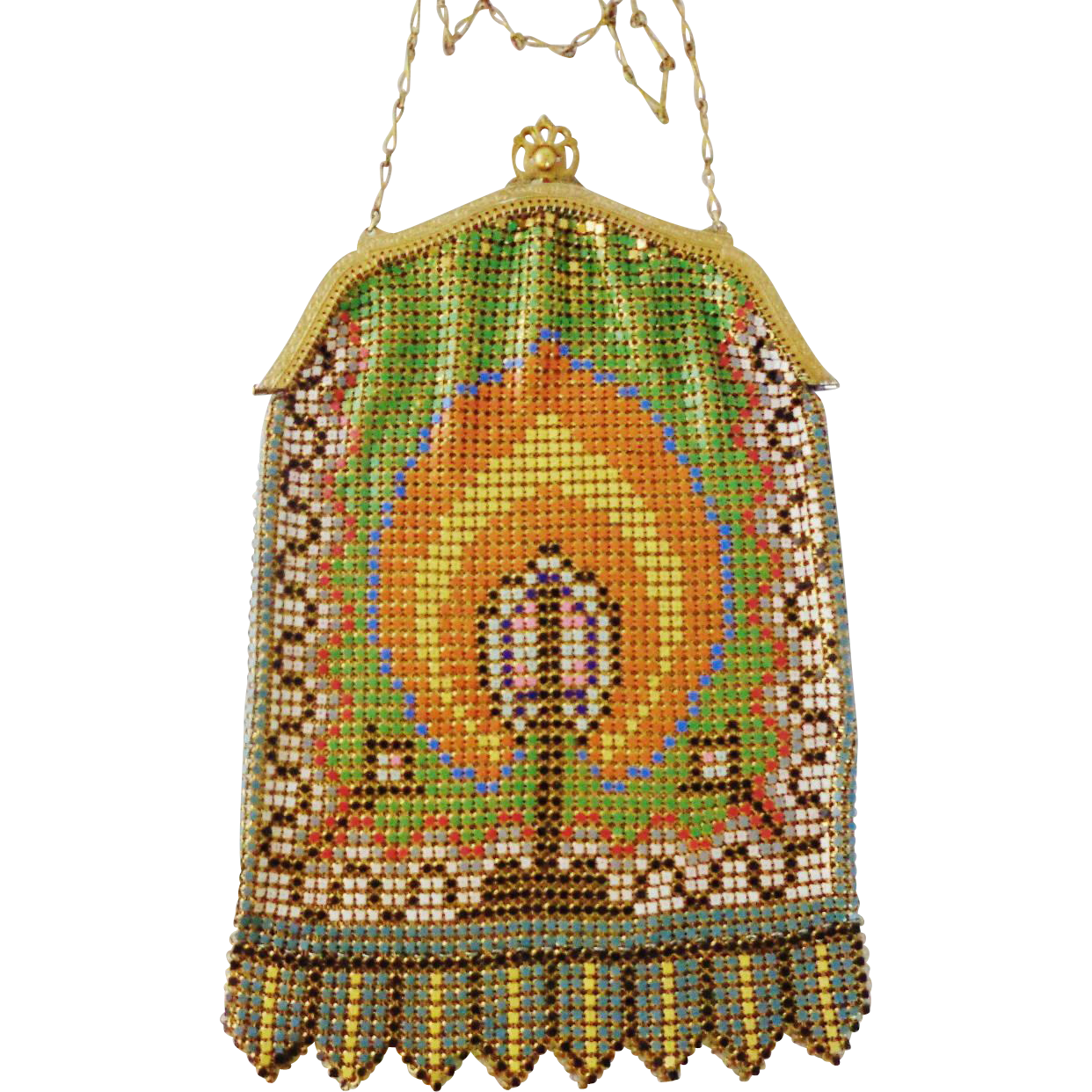 Vintage Enamel Mesh Candle Purse by Whiting and Davis