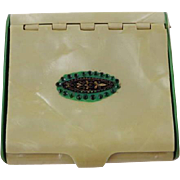 Vintage 1930s Celluloid Compact Box