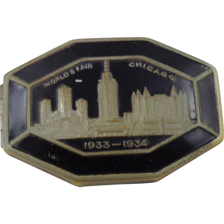 Vintage Chicago's 1933-1934 World's Fair Vanity Compact