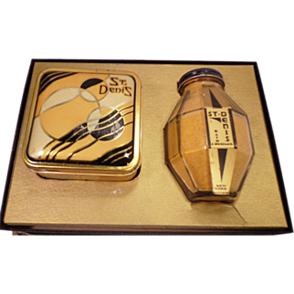 Vintage Art Deco Deco Set of St. Denis Powder  In Box