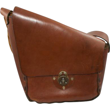 Vintage Boho Brown  Leather  Purse