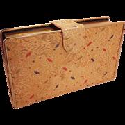 Vintage Gold Metallic Brocade  Clutch  Purse  Graceline Original