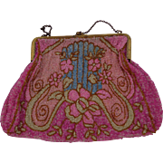 Vintage Bohemian Pink Beaded Purse - Red Tag Sale Item