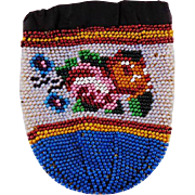 Antique Early 19th Century Beaded Purse