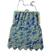 Vintage Mesh Purse With Matching Enamel Frame