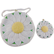 Vintage delill l Sun Flower Purse and Coin Purse