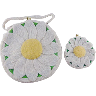 Vintage delill l Sun Flower Purse and Coin Purse