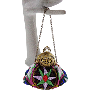 Vintage Beaded Puffy Purse