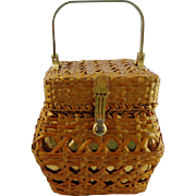 Vintage Straw Purse by Walborg