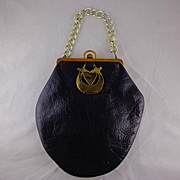 Vintage Black Leather  Purse by Roger Van