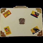 Vintage  Suitcase Vanity Compact Purse