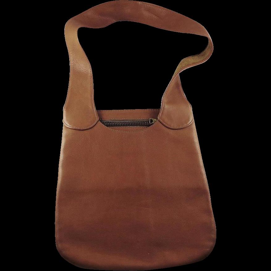 Vintage Bonnie Cashin Tan Leather Purse for Meyers