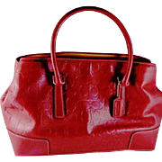 Vintage Limited Edition Red C Embossed Leather Made by Coach