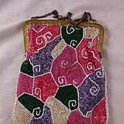 Vintage Transparent Colorful Beaded Purse