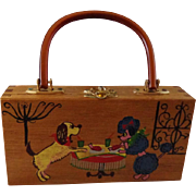 Vintage Dogs Eating Purse by Gail of Dallas