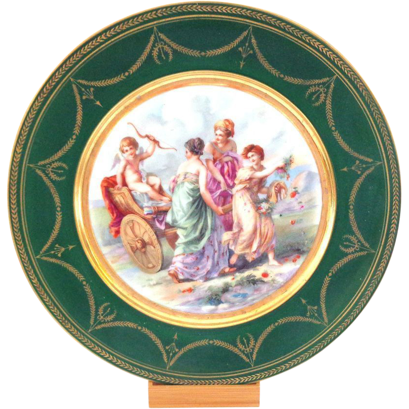 Ginori Cabinet Plate with Cupid and Angel and Beautiful Women
