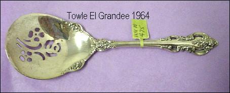 Towle Sterling El Grandee Pierced Bonbon Spoon
