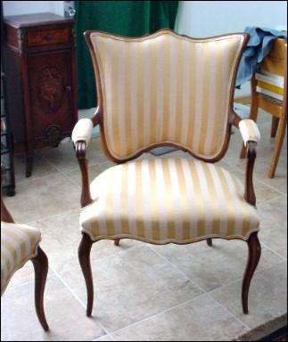 Exquisite Elegant Pair of French Armchairs with Extra Wide Shield Backs