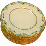 12 Royal Doulton The Roxbury Plates Hand Enamel Work