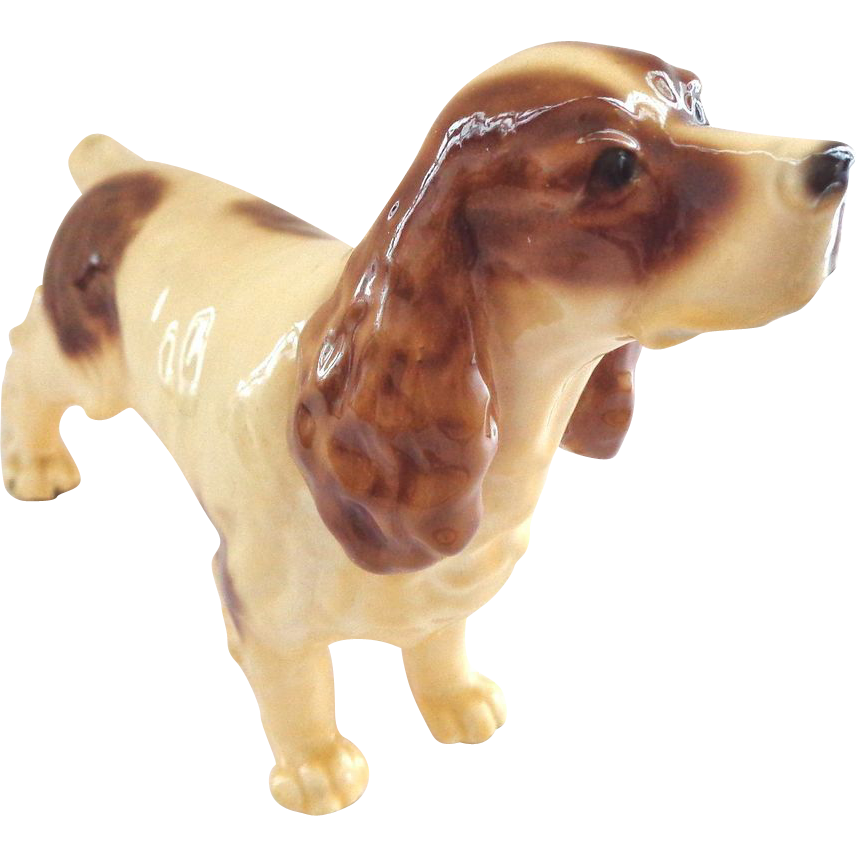 mortens studio springer spaniel dog figurine from thatwasthen on ruby lane. Black Bedroom Furniture Sets. Home Design Ideas