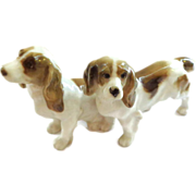 Adorable 19th C. Hutschenreuther Dogs - Pair of Spaniel Pups