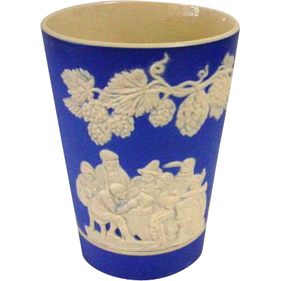 Antique Spode Copeland Blue Jasperware Wine Cup